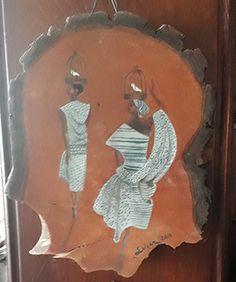 African women oilpainted on wallnut tree plate. 25 cm. #painting #art #artist #oilpaint #african #african woman #wood # wood painting #wallnut tree #chatbirdy