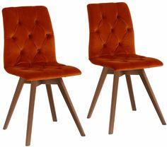Home affaire Stühle »Rania« orange, 6er Set, Samtoptik, Beine Nussbaum, FSC®-zertifiziert Jetzt bestellen unter: https://moebel.ladendirekt.de/kueche-und-esszimmer/stuehle-und-hocker/polsterstuehle/?uid=5156fe10-07b1-500a-800b-b5a1eecd2225&utm_source=pinterest&utm_medium=pin&utm_campaign=boards #stühle #kueche #polsterstuehle #esszimmer #hocker #stuehle