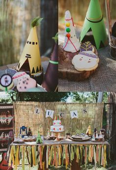 Pow Wow Party with Such Cute Ideas via Kara's Party Ideas | KarasPartyIdeas.com