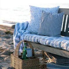 comfortable picnic spot on the beach