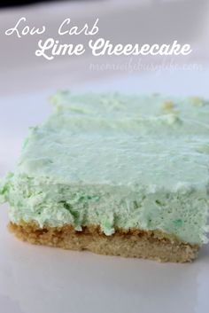 Great tasting #dessert #recipe for anyone cutting carbs! Low Carb Lime Cheesecake Recipe #lowcarb