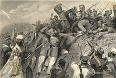 The violence started on May 10, 1857 in Meerut, when Mangal Pandey, a soldier in the Army shot his commander for forcing the Indian troops to use the controversial rifles. Indians constituted 96% of the 300,000 British Army and the violence against British quickly spread (hence the name Sepoy Mutiny). The local chiefs  encouraged scattered revolts in hopes of regaining their lost privileges.