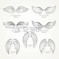 Flügel Sammlung Reihe von Flügeln photo