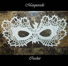 Phoenix Bird Lace Masquerade Mask Crochet Pattern PDF Costume Photo Prop Ball Party Prom Dress Up Crochet Mask, Diy Crochet, Crochet Skull, Cotton Crochet, Thread Crochet, Cat Masquerade Mask, Face Lace, Phoenix Bird, Into The Fire