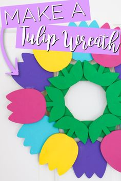 Home Decor Living Room Make a tulip wreath with a few supplies! This will look great on your front door this spring! Decor Living Room Make a tulip wreath with a few supplies! This will look great on your front door this spring! Diy For Teens, Diy For Kids, Crafts For Kids, Diy Crafts, Homemade Wreaths, Quick And Easy Crafts, Tulip Wreath, Diy Candles, Spring Crafts