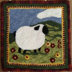 Rug Hooking Needle Punching WASH DAY Wool Applique Charlie/'s Daughter 8 square Applique Pattern for Quilting