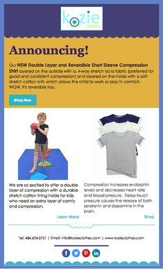 ANNOUNCING Our New Double Layer and Reversible Short Sleeve Compression Shirt Compression Clothing, Your Child, Layers, Children, Amazing, Sleeves, Shirt, Layering, Young Children