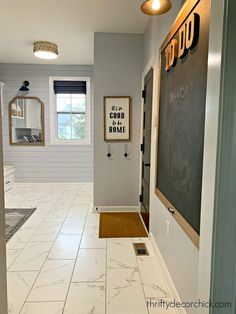 Walls: White, Benjamin Moore It was previously Agreeable Gray, SW.which is the main color she used throughout her new gorgeous home. Laundry Room Inspiration, Decor, Mudroom Laundry Room, Mudroom, Grey Laundry Rooms, Blogger Decor, Creative Home Decor, Home Diy, Decorating Your Home