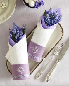 Purple Weddings~Table Setting #purple #lavender #linens #weddings #tablesetting #florals #flowers