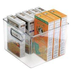 "mDesign Plastic - Kitchen Pantry Food Storage Organizer Bin, 8 ""x x 6 "", Pack of 8 Food Storage Organization, Container Organization, Kitchen Cabinet Organization, Organizer Bins, Cabinet Storage, Smart Storage, Organizers, Glass Food Storage, Pantry Storage"