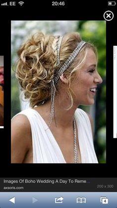 Blake's boho wedding hair