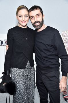 Olivia Palermo and Giambattista Valli attend the Moncler Gamme Rouge show as part of the Paris Fashion Week Womenswear Fall/Winter 2017/2018 on March 7, 2017 in Paris, France.