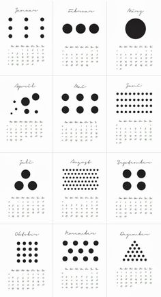 dots calender Graphic Design Calendar, Graphic Design Magazine, Graphic Design Typography, Magazine Design, Web Design, Design Art, Print Design, Dots Design, Diy Calendar