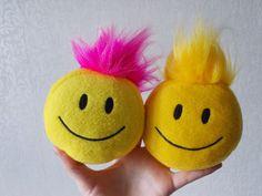 smiley face #smileyface soft toys extra-small. Blog - http://rollandaonlineshoppillows.blogspot.ru/  More photos in Picasa gallery https://picasaweb.google.com/108717028463177156838 Shop - https://www.etsy.com/shop/PillowsRollanda