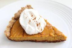 Ultimate Walnut Pie Crust with Pumpkin Filling and more of the best paleo pumpkin pie recipes on MyNaturalFamily.com #pumpkin #paleo
