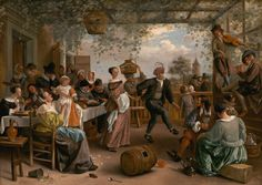 """""""The Dancing Couple"""" by Jan Steen, 1663"""