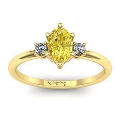 Inel logodna L12GSG cu safir galben si diamante