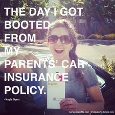 That weird moments when it clicks that you're an adult: buying car insurance