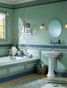 30 Modern Bathroom Decor Ideas, Blue Bathroom Colors and Nautical Decor Themes