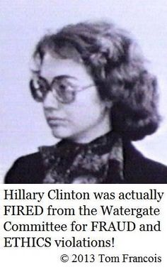 "History Lesson ~ Bet many of you did not know Hillary Clinton was RELENTLESS during Watergate investigation! DEMANDING to know what Nixon knew and when he knew it! Hypocrite much ""What difference does it make now"" Hillary?  https://www.facebook.com/photo.php?fbid=639248486138001&set=a.569596159769901.1073741829.569455949783922&type=1&theater"