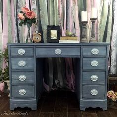Just the Woods - a veteran owned business specializing in painted furniture using non toxic products. Todays post is a DIY fabric ribbon backdrop Staging Furniture, Furniture Makeover, Rag Curtains, Ribbon Backdrop, Hand Painted Furniture, Fabric Ribbon, Money From Home, Window Coverings, Soft Furnishings