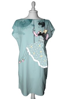 Product I love, Sophie en eau by Greta Pigatto. Handmade minidress, limited editions. #Mint #Minidress #Dress #Handmade #Handpainted #GretaPigatto #MadeInItaly