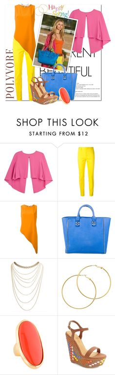 """Spring Has Sprung"" by msmith801 ❤ liked on Polyvore featuring Paule Ka, Dsquared2, Dion Lee, Ralph Lauren, Rebecca Minkoff, Wet Seal, Melissa Odabash, Kenneth Jay Lane and Lauren Lorraine"