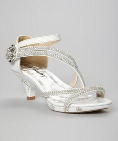 Look at this #zulilyfind! White Sparkle Laura Sandal by Ruby Shoes #zulilyfinds