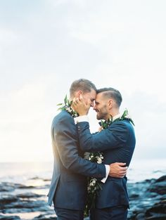Their joy is contagious: http://www.stylemepretty.com/2015/09/02/romantic-lahaina-beach-wedding/ | Photography: Wendy Laurel - http://www.wendylaurel.com/