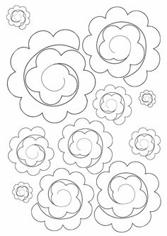 Best Collections Diy Paper Flowers Template If you are looking for Diy paper flowers template you've come to the right place. We have collect images about Diy paper flowers template includ. Pin On Paper Flowers Origami Ball, Origami Rose, Diy Origami, Rolled Paper Flowers, Paper Flowers Craft, Paper Roses, Flower Crafts, Felt Flowers Patterns, Fabric Flowers