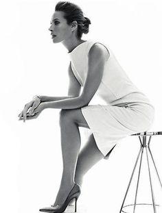 Minimal + Classic: Christy Turlington Harper's All white dress
