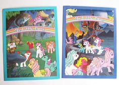 Original Vintage 1986 Hasbro My Little Pony Folder Set 4 Unused Pocket Folders