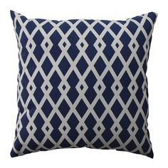 100% Cotton pillow with lattice motif.  Product: PillowConstruction Material: 100% Cotton cover and recycled vir...