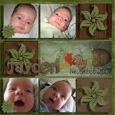 Baby boy scrapbooking layout using my own kit ref 0015. Email me on js@storminc.co.za for more info.