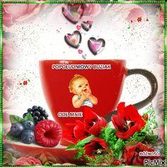 POPOŁUDNIOWY BUZIAK Good Morning Funny, Morning Humor, Moscow Mule Mugs, Tableware, Dinnerware, Tablewares, Dishes, Place Settings