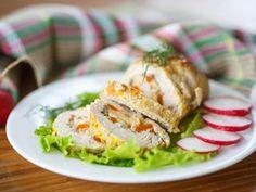 Rollitos de Pollo y Verduras | Deliciosos rollitos de pollo fáciles de hacer, ricos y agradables a la vista y al gusto. Son perfectos para una cena ligera o cuando estás cuidando la línea. A toda la familia le encantarán.