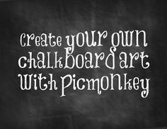 DIY Chalkboard Art Printables