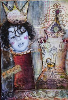 la sillita de la reina by ch... #scrap #inspiration #art #mixedmedia #glimmermist #chbycarolacoch