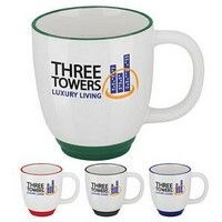 Giveaway Two-Tone Bistro Mugs Printed with Your Logo Advertising Ceramic Mugs (Ceramic). Bistro Mug. Custom Bistro Mugs. Custom Two Tone Mugs. Ceramic Coasters, Ceramic Mugs, Cheap Promotional Items, Incentives For Employees, Coffee Shop, Coffee Mugs, Make Your Logo, Quality Logo Products, Mug Printing