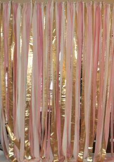 Blush pink and gold fabric. Back Drop for photo booth at wedding! Great Idea! A Must try! #pinkwedding #goldwedding #weddingdecor                                                                                                                                                                                 More