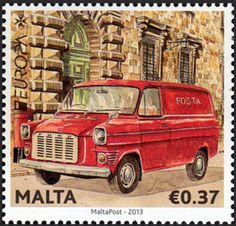 "europa stamps: Malta 2013 -  Europa 2013 ""The postman van""  celebrating PostEuropa's 20th anniversary - 1993-2013"