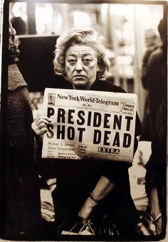 """Times Square, New York City, November 22, 1963"" Richard Avedon"