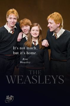 Red hair and hand-me-down robes, but there's no shortage of love in the Weasley household. | The families of Harry Potter