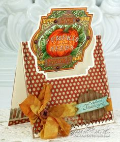 Autumn Topper Cut out Card with complete Tutorial designed by Sharon Harnist