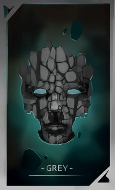 GREY mask for FAWKES novel, artwork by @mishmadoodls