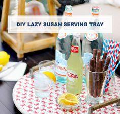 IHeart Organizing: UHeart Organizing: DIY Lazy Susan Serving Tray