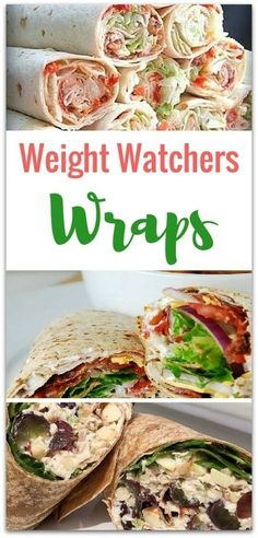 Mouthwatering Weight Watchers Wraps - Virtually Yours Sometimes a sandwich just doesn't cut it, and you need something a little tastier. Weight Watchers Wraps are perfect for getting out of the sandwich rut! Weight Watcher Wraps, Plats Weight Watchers, Weight Watchers Lunches, Weight Watcher Dinners, Wraps For Weight Loss, Weight Watchers For Men, Weight Watcher Breakfast, Weight Watchers Recipes With Smartpoints, Weight Watcher Recipes