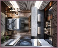Master bedroom design - Contemporary Monochromatic home on Behance Hotel Room Design, Bedroom Closet Design, Modern Bedroom Design, Master Bedroom Design, Modern Interior Design, Contemporary Bedroom Decor, Modern Apartment Design, Bedroom Wardrobe, Interior Designing