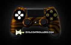 Custom PlayStation 4 photo PS4Controller-OrangeZebra.jpg #PS4Controller #PlayStation4Controller #Dualshock4 #CustomPS4Controller #moddedPS4Controller #CustomController #moddedcontrollers