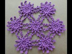 Forma de unir en Crochet el Motivo Punto Piña en Relieve.